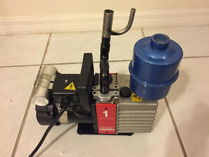 Edwards E2m 1 Two Dual Stage Vacuum Pump Tested With Vacuum Gauge