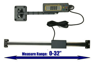 Igaging Absolute Dro Digital Readout 32 800mm Read Out Stainless Steel Beam