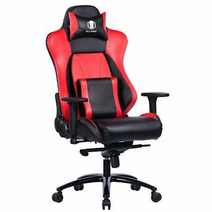 Big And Tall 400lb Memory Foam Gaming Chair Computer Desk Office Chair Red