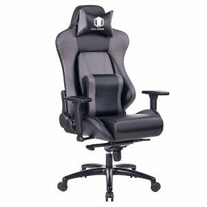 Big And Tall 400lb Memory Foam Gaming Chair Computer Desk Office Chair Gray