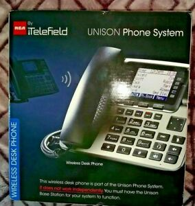 New Rca 4 line Business Phone System Base Station Unison U1000 Telefield