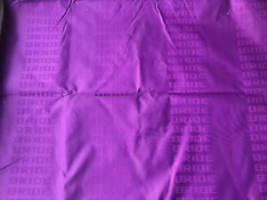 Purple Bride Fabric Racing Car Seat Cover Seats Interior Decoration Cloth Jdm 1m