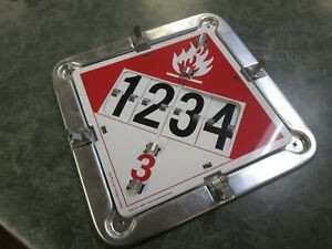 Label Master Hazard Plackers 2 Legend Flip Placard For Tankers Flameable Gas 3