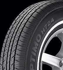 4 New 195 75r 14 Hankook Optimo H724 White Wall 75r R14 Tires