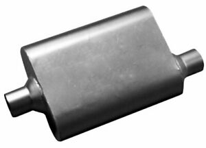 Thrush 17650 Welded Muffler Available In 2 5 Inch Inlet And Outlet