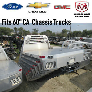 Chassis Bed Fits Ford Gm Dodge Trucks Alrd Aluminum Flatbed Body 209272