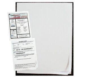 Car Dealer Window Stickers Window Stickers And Buyers Guides Blank Labels
