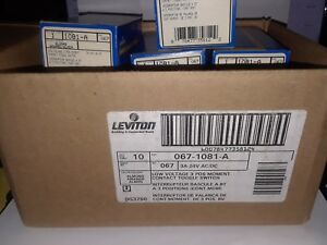 Lot Of 10 Leviton 1081 3 Amp 24v Toggle Double Throw Momentary 1 Pole Switch