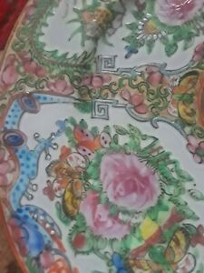 4 Chinese Canton Rose Medallion Dragon Plates 1930s Net A Porter 1stdibs
