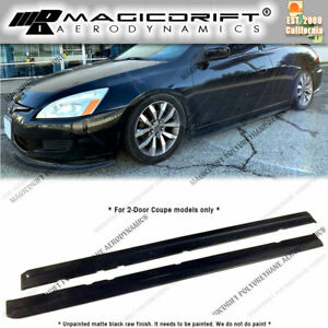 For 03 05 Honda Accord 2dr Coupes Jdm Style Rocker Panels Side Skirts Extension