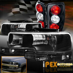 2000 2006 Chevy Suburban Tahoe 6pc Black Headlights Signals Tail Lights