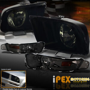 New 2005 2009 Ford Mustang Gt Coupe Smoke Headlights Smoke Bumper Signal Light