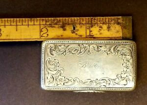 Sterling Silver Antique Patch Or Snuff Box 1851 1862