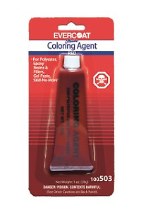Evercoat 503 Fiberglass Resin Red Color Agent 1 Oz Evercoat 503