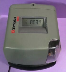 Simplex 100 Digital Time Clock Stamp No Key Business