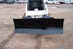 New Heavy 66 Four Way Dozer Blade Plow For Skid Steer Fits John Deere Bobcat