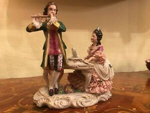 Antique Retro German Dresden Decor Porcelain Figure Figurine