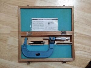 Vintage Fowler 3 To 4 Rolling Digital Outside Micrometer 52 222 004