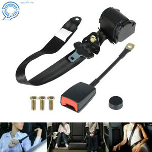 Universal 3 Point Retractable Auto Car Seat Belt Lap Shoulder Adjustable