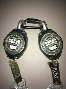 Pair Safewaze Fs fsp1407 w 7 Web Retractable W Double locking Snap Hook