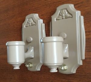 Vintage Pair Of B H 1 Light Bath Wall Sconces Restored Ready To Use