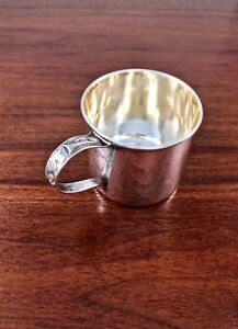 Adorable Lunt Sterling Silver Baby Cup W Abc Handle No Monogram