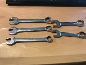 Snap On 5pc 3 Short 2 Stubby Standard Combination 12 point Wrench Set
