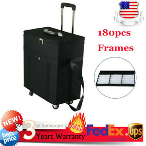 Black Box Organizer Display Case For 180 Pair Eyeglasses sunglasses Trolley Case