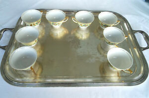 Fabulous Massive Large Silver Plate Butlers Serving Tray