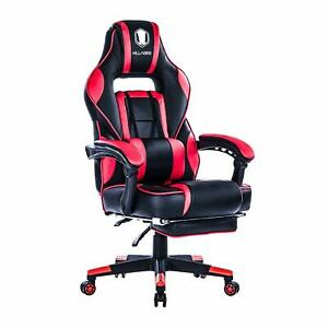 Killabee Racing Gaming Chair Office Computer Task Seat Reclining Memory Foam Red