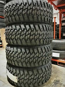 4 New Muteki kanati Mud Hog M t Lt285 70r17 Load E 10 Ply Mt Mud Tires