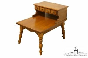 Temple Stuart Colonial Style Rockport Maple 20x28 Step End Table