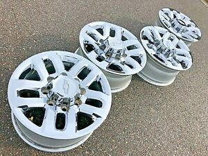18 Chevrolet Silverado 2500 Hd Chrome Chevy Oem Factory Stock Wheels Rims 8x180