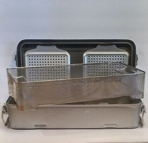 Mueller Genesis Baxter Full Sterilization Container Case W Tray Basket Large
