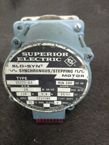 Superior Electric Slo Syn Type Ss221g3 Motor 120v 24 Rpm 1 2 Shaft