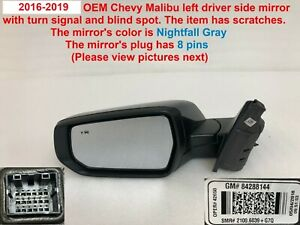2016 2018 Chevy Malibu Left Side Mirror With Turn Signal And Blind Spot 84288144