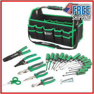 22 piece Tool Set Electrician s Wire Strippers Pliers Screwdrivers Cable Ripper