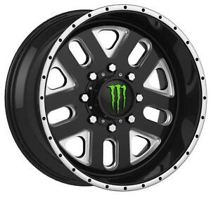 Monster Energy Limited Edition 539bm Black Wheels With Machined Accent A198006