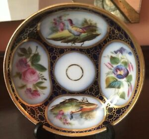 Antique Russian Imperial Porcelain Saucer Only Russia