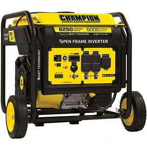 Champion 100519 5000 Watt Digital Hybrid Open frame Inverter Generator W Q