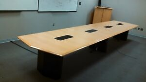 Executive Large 18x4 Conference Table Office Furniture With Data Port