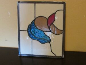 Stain Glass Window Panel Country Coach Rv Cabinet Door Insert 9x10 3 4