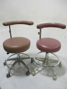 Brewer Lot Of 2 Vinyl Dental Stools For Dentistry Operator Operatory Seating