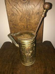 19th Century Fire Starter Oil Bucket