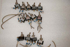 13x Lot Carling 2 position Toggle Switch 15a 125vac 10a 250vac 3 4hp 120 240vac