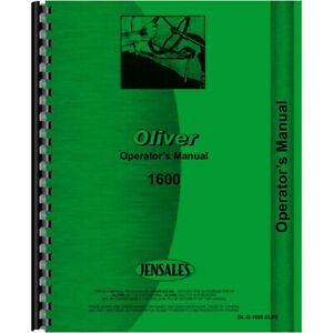 New Oliver 1600 Tractor Operators Manual