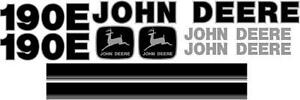 John Deere 190e Ns New Style Excavator Decal Set With Stripe Jd Decals