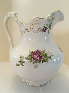 Antique Buffalo Pottery Cairo Pattern Large Pitcher Early 1900s