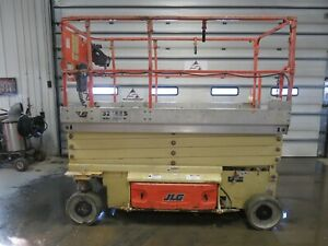 2011 Jlg 3246es 32 Electric Scissor Lift Aerial Manlift Platform Genie Iowa