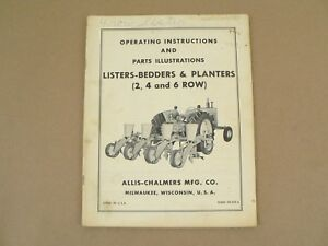 Allis Chalmers Listers bedders Planters Owners Manual Parts List Catalog Vtg
